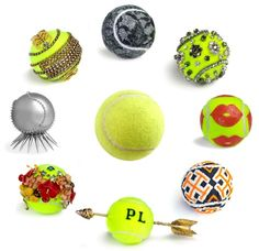 Vogue Daily — Designers created tennis balls in honor of the US Open.  Here are a few, pretty cool!