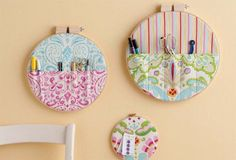 Functional Decor! A small quilting project: embroidery hoop storage pockets Bonnie Ferguson