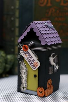 Haunted Milk Carton House http://naughtysecretaryclub.blogspot.com/2010/09/i-love-to-create-haunted-milk-carton.html