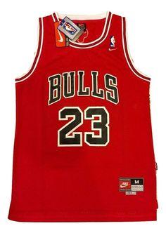 d5b315616 Michael Jordan Jersey Chicago Bulls NBA Throwback Red Men s Swingman   23  NWT  Nike