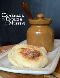 » Homemade English Muffins {Bread Machine Method} Lemony Thyme