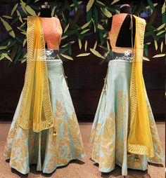 """""""Let your outfit speak for YOU"""" Indian Wedding Outfits, Best Wedding Dresses, Indian Outfits, Indian Clothes, Indowestern Lehenga, Indian Lengha, Bridal Elegance, Crop Top Dress, Indian Ethnic Wear"""