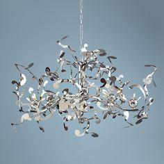 Possini Euro Design 18-Light Curly Ribbon Pendant | LampsPlus.com