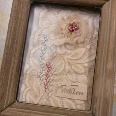 Embroidery on teastained lace.... #vintage #handmade #happy