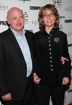 """Retired astronaut Mark Kelly and former U. Congresswoman Gabrielle """"Gabby"""" Giffords walked the red carpet at the Grand Opening of by Morton's inside Crystals at CityCenter in LasVegas, Nevada on February 2013 Vegas Casino, Las Vegas, Columbus State University, Mark Kelly, Vegas Shows, Planet Hollywood, Summer Pool Party, The Time Is Now, Inspiring Women"""