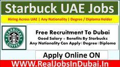 Starbucks Hiring Staff In UAE 2021 Starbucks Locations, Airport Jobs, Dubai Airport, Restaurant Jobs, Restaurant Names, Receptionist Jobs, Hotel Jobs