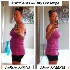 AdvoCare 24-Day Challenge Results!!  Check out the challenge here: http://www.choosethechallenge.com/13081303