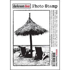 Darkroom Door - Summer Oasis - Rubber Cling Photo Stamp
