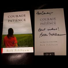 "Signed "" Courage in Patience by Beth Fehlbaum"""