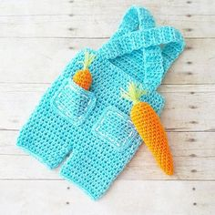 Crochet Baby Carrot Farmer Overalls Pants Shorts set Bunny Easter Spring Infant Newborn Baby Handmade Photography Photo Prop Baby Shower Gift Present