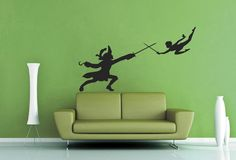Peter Pan vs Captain Hook Silhouette Wall Decal