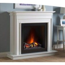 Katell Napoli Free Standing Smoke Effect Electric Fireplace Suite