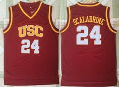 d42d601f5b7  21 Men s USC Trojans  24 Brian Scalabrine Red College Basketball Retro  Swingman Stitched NCAA Jersey