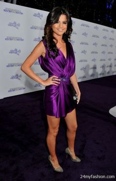 selena gomez purple dress | You can share these selena gomez purple dresses on Facebook, Stumble ...