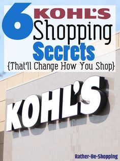 6 Kohl's Shopping Secrets That'll Change the Way You Shop
