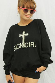 cross letters printed blouse loose money bat sleeve t - shirt - http://zzkko.com/n4497-012-Fall-installed-new-Korean-Women-cross-letters-printed-blouse-loose-money-bat-sleeve-t-shirt $11.70