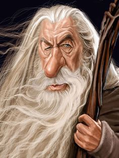 Caricature Gandalf