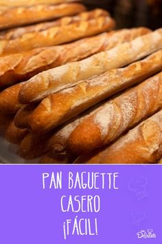 Mexican Cooking, Mexican Food Recipes, Pan Baguette Receta, Bread Recipes, Cooking Recipes, Pan Bread, Moist Cakes, How To Make Bread, Hot Dog Buns
