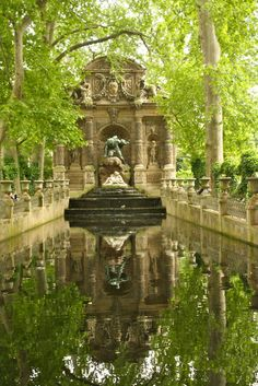 The Luxembourg Gardens in Paris. Where Marius first saw Cosette. I can imagine Hugo sitting here, writing...