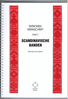 Pattern book with tutorial in English about various band weaving structures. Available in print and on disc. Marijke van Epen