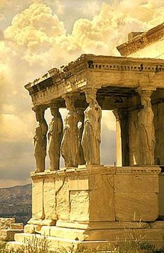 Porch of the Caryatids, Acropolis Athens...