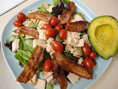 The Man Salad    mixed greens turkey tomatoes bacon avocado
