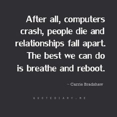 Words by Carrie Bradshaw!!!
