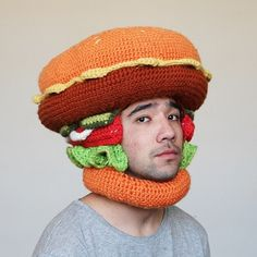 Phil Ferguson Crochets Delectable Foods To Wear On  Your Head