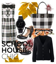 """""""school house chic"""" by mildredsunrise on Polyvore featuring Miu Miu, Lands' End, Journee Collection, Kate Spade and EyeBuyDirect.com"""
