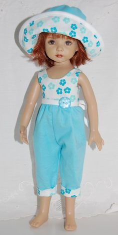 """~*~Summertime Fun~Turquoise Posies~fits 13"""" Effner Little Darling~*~"""