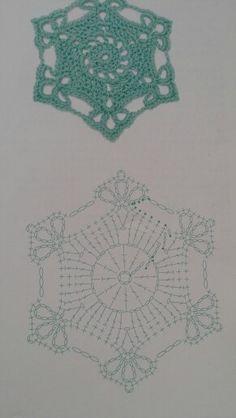 Snowflake 20 Crochet Diagram, Crochet Chart, Crochet Motif, Crochet Doilies, Crochet Flowers, Crochet Stitches, Crochet Patterns, Crochet Earrings Pattern, Crochet Snowflake Pattern