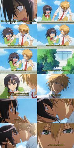 episode 6? if not mistaken >< Usui and Misa ♡♡♡ Love these scenes hahaa ♡  #KaichouWaMaid-sama