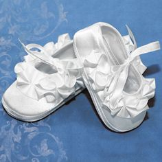 Girls Christening Baptism Ruffled Shoes  CLOSEOUT CLEARANCE SALE!  #Corrine #Shoes