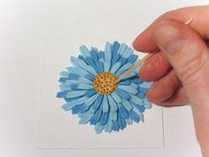 Голубая хризантема   Полимерная глина уроки