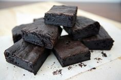 Alton Brown's Cocoa Brownies using his special method for cooking the brownies