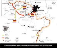 BATALLA DE BRUNETE | PSEUDOBLOGDEGERUNDIO Foto Madrid, Wwii, Spanish, Military, Maps, Battle, Literatura, Civil Wars, Studying