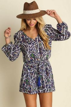 219c43880f8 This is a great little romper for those Coachella weekends! Lightweight  romper with gorgeous paisley