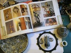 Neat blog on DIY Steampunk stuff.   How to make a key and knife frame holder inspired by the book Steampunk Chic