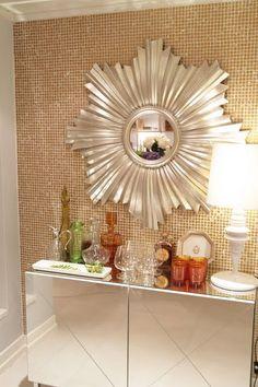 I love sunburst mirrors!