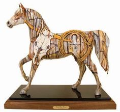 [SOLD] BUNK HOUSE BRONCO™ ORIGINAL —'AMERICA THE BEAUTIFUL' TRAIL OF PAINTED PONIES COMPETITION PRESIDENT'S CHOICE.