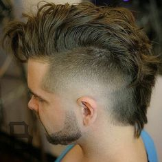 "New ""boy hairstyles images"" Trending Boy Amazing hairstyle pic collection 2019 Mens Hairstyles With Beard, Hairstyles Haircuts, Mowhawk Hairstyles, Faux Hawk Hairstyles, Mohawk For Men, Short Mohawk, Mohawk Mullet, Medium Hair Styles, Short Hair Styles"