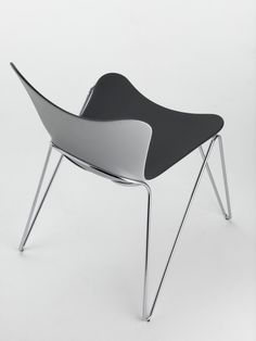 Stackable and striking. Discover our Osimo chair. http://www.vivendo.com/osimo-charcoal-grey-black-laquered-legs-chair/