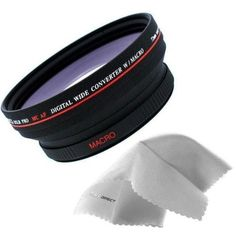 Digital Video 0.48x 72mm Wide Angle Lens for Sony High Grade Camcorder (Wider Alternative To VCL-HG0872K)   Nwv Direct Micro Fiber Cleaning Cloth >>> Click on the image for additional details. (This is an Amazon Affiliate link and I receive a commission for the sales)