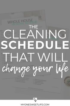 cleaning schedule A step-by-step guide on the cleaning process that changed my life. I am a firm believer that this cleaning method can work for anyone, as long as you put in the work and make it work for your own life. via myonesweetlife Deep Cleaning Tips, House Cleaning Tips, Diy Cleaning Products, Cleaning Solutions, Cleaning Hacks, Cleaning Recipes, Cleaning Items, Organizing Tips, Organising