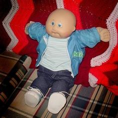 Clean your Cabbage Patch Doll! This also goes in cleaners but you have to be really gentle so craft projects it is!