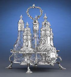 Antique English Silver,Georgian Silver, Antique Cruet ~ M.S. Rau Antiques