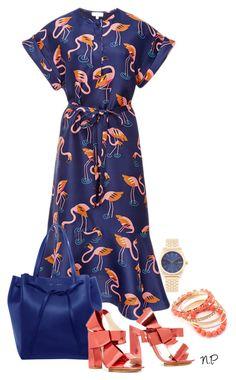 Delpozo Dress by nuria-pellisa-salvado on Polyvore featuring moda, Delpozo, CÉLINE, Nixon, summerdress, summeroutfit and polyvorecommunity
