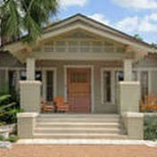 Craftsman Style Homes Exterior Bungalows Color Schemes House Exterior Color Schemes, Exterior Paint Colors For House, Paint Colors For Home, Exterior Colors, Exterior Design, Stucco Colors, Brick Columns, House Paint Color Combination, Paint Your House