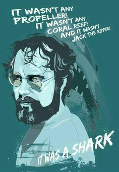 Jaws Movie, Movie Tv, Horror Show, Horror Movies, Cinema Posters, Movie Posters, Roy Scheider, Robert Shaw, Favorite Movie Quotes