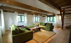 Artistic Rustic Wooden Beams Decoration of Low Ceiling Design